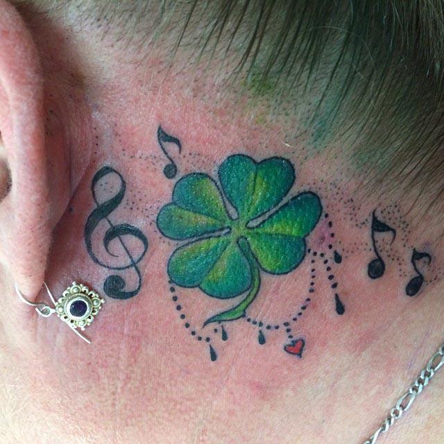 Lucky Clover Tattoo
