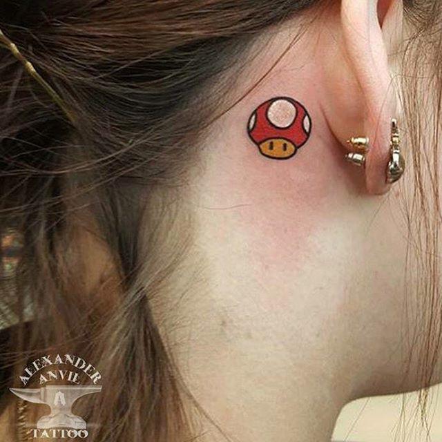 Mario Mushroom Tattoo