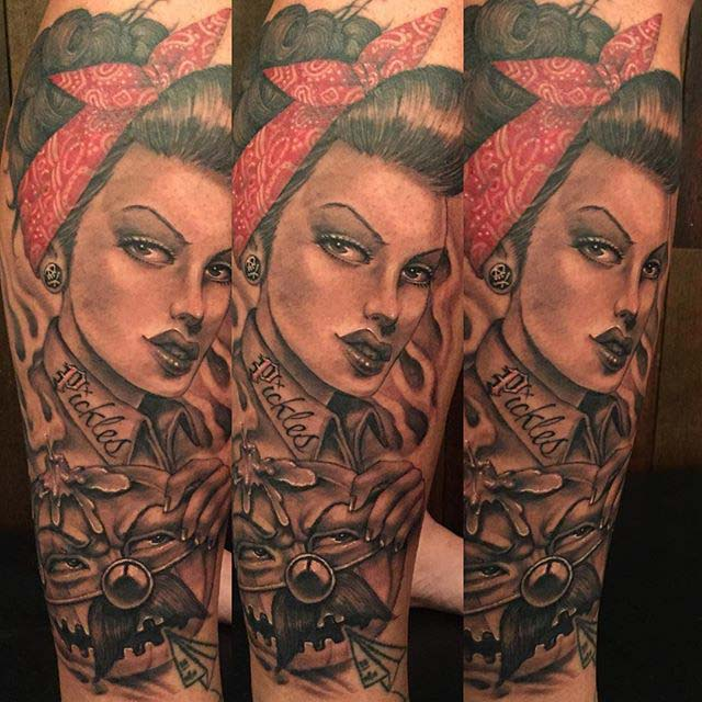 Mexican Pin Up Girl Tattoo