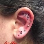 Music Note Tattoo Ear