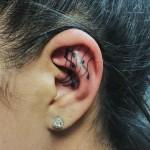 Musical Tattoo Inside Ear