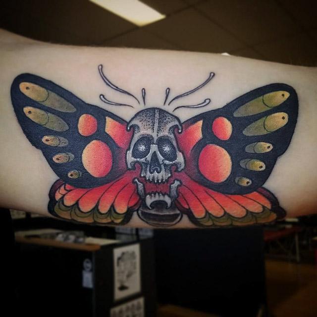 Skull Butterfly Tattoo