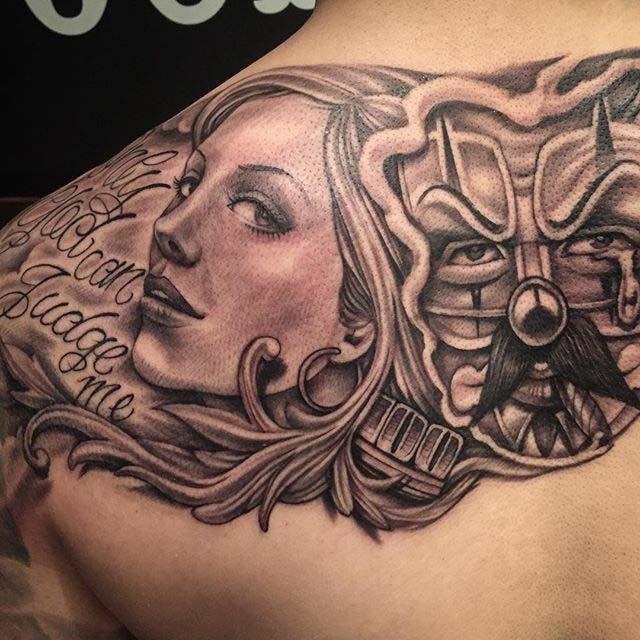 art tattoo Chicano