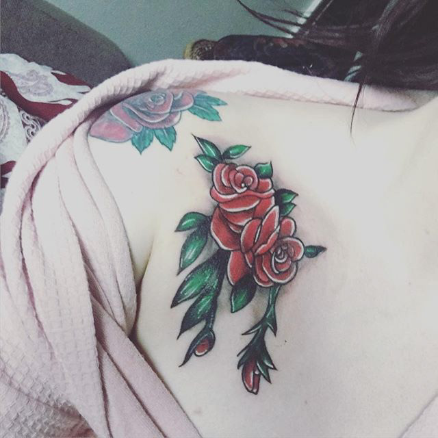 Traditional Tattoo Roses by Em Fulloway