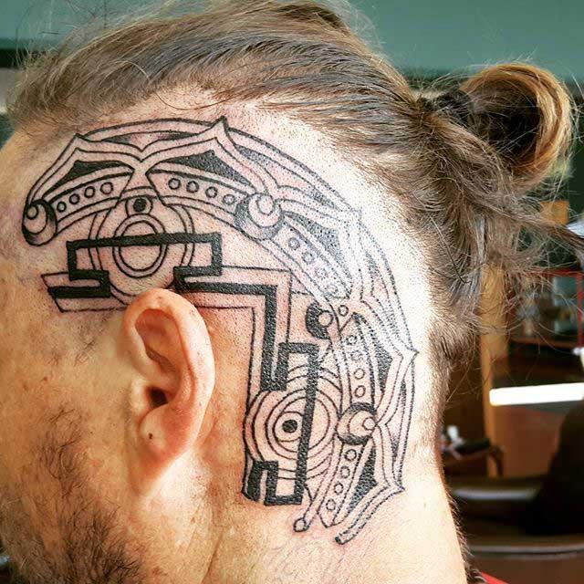 Tribal Head Tattoo