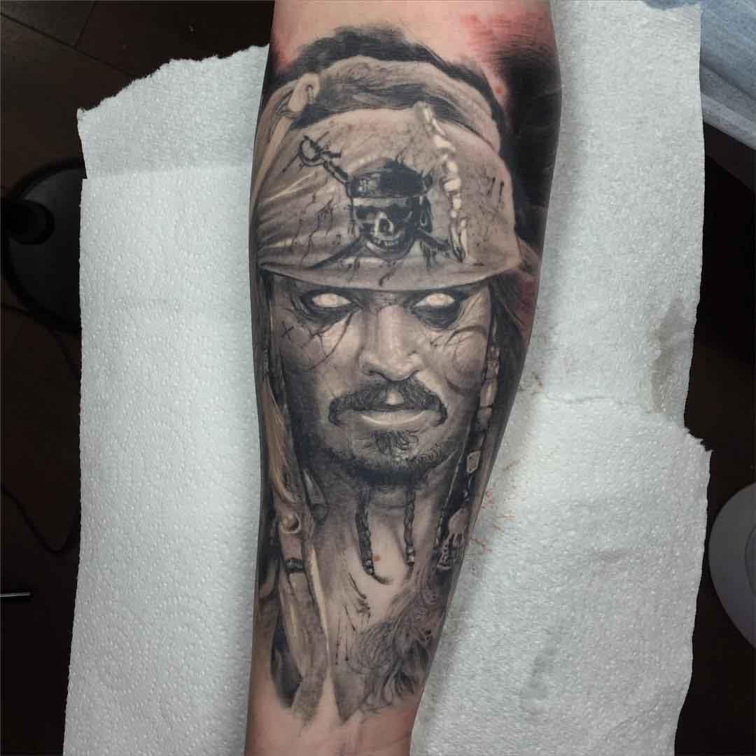 Jack Sparrow Tattoo Portrait