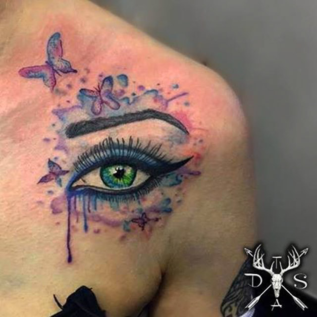 Watercolor Eye Tattoo by dannyscotttattooartist