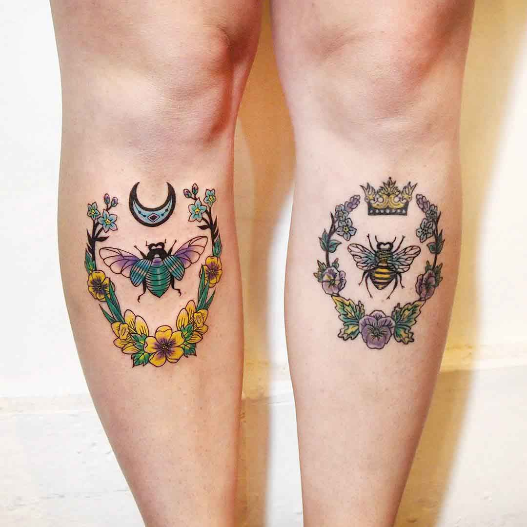 Bugs Shin Tattoo Designs by jessicachanner