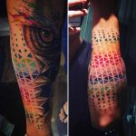 Colorful Half Sleeve Tattoo