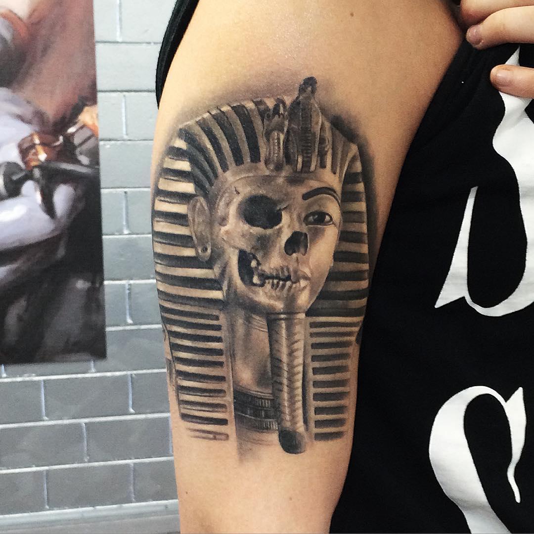 Cursed Pharaoh Tattoo by benparkertattoo