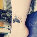 Disney Castle Tattoo on Ankle