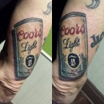 Drink Can Tricep Tattoo