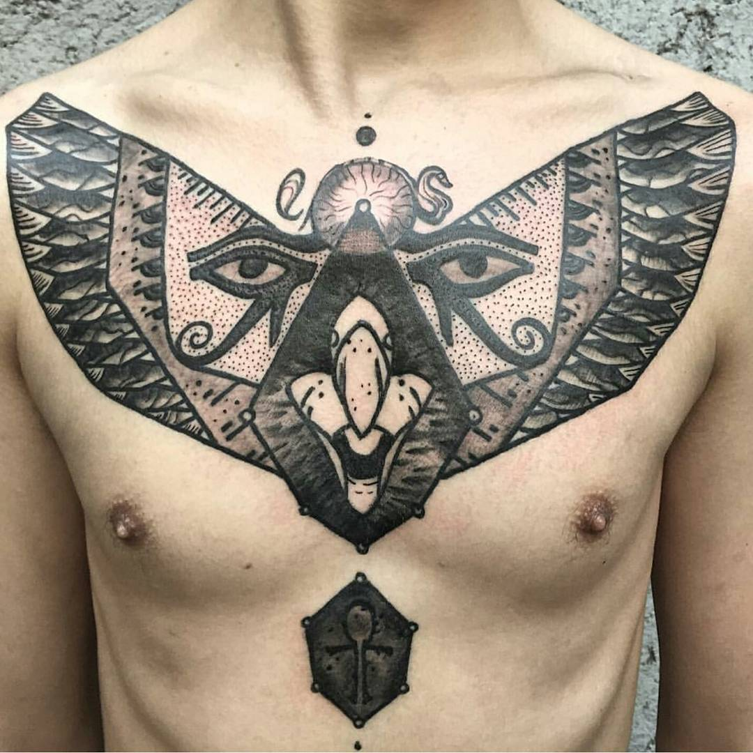 Egyptian Art Tattoo by arther_optera