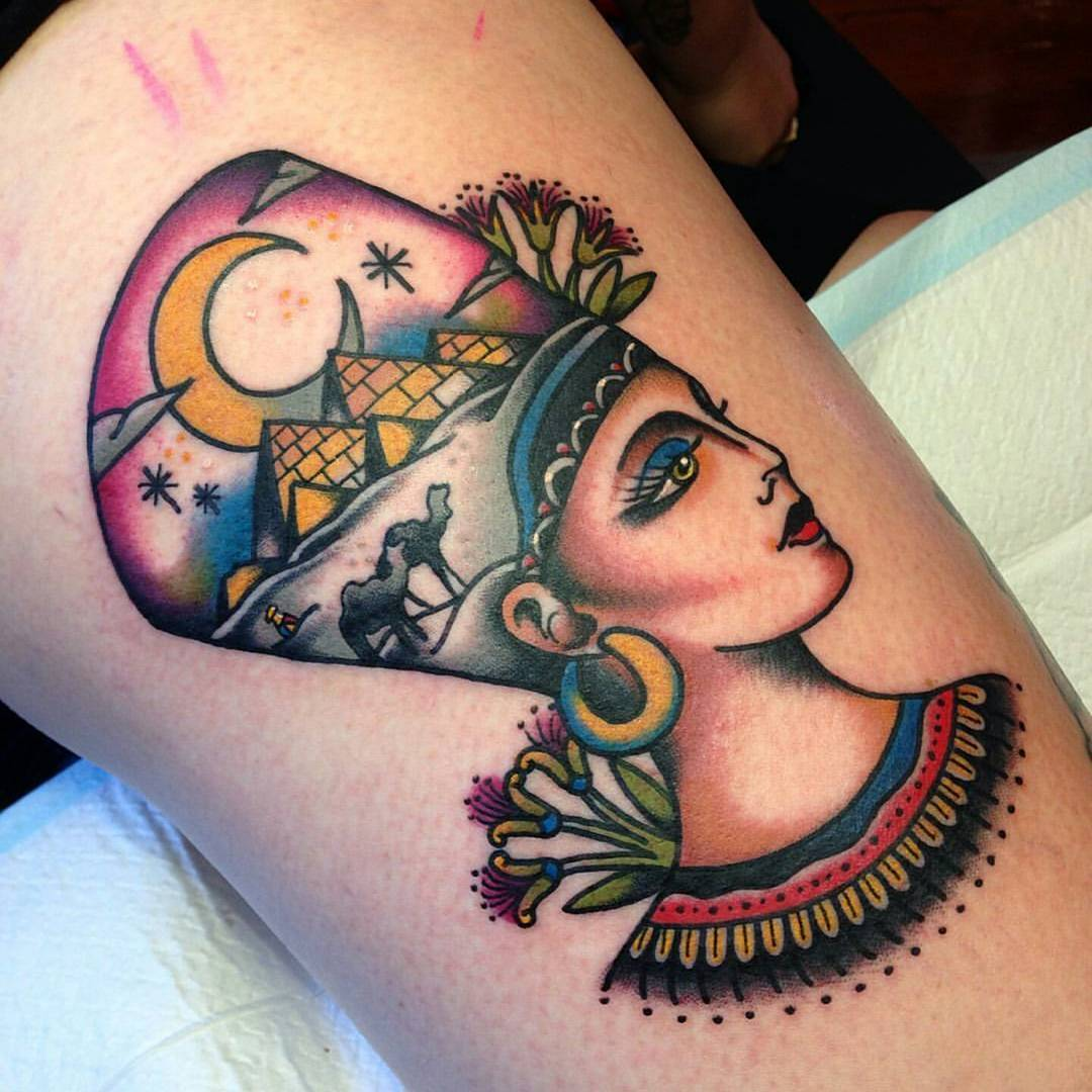 Egyptian Queen Tattoo by @avalondesu