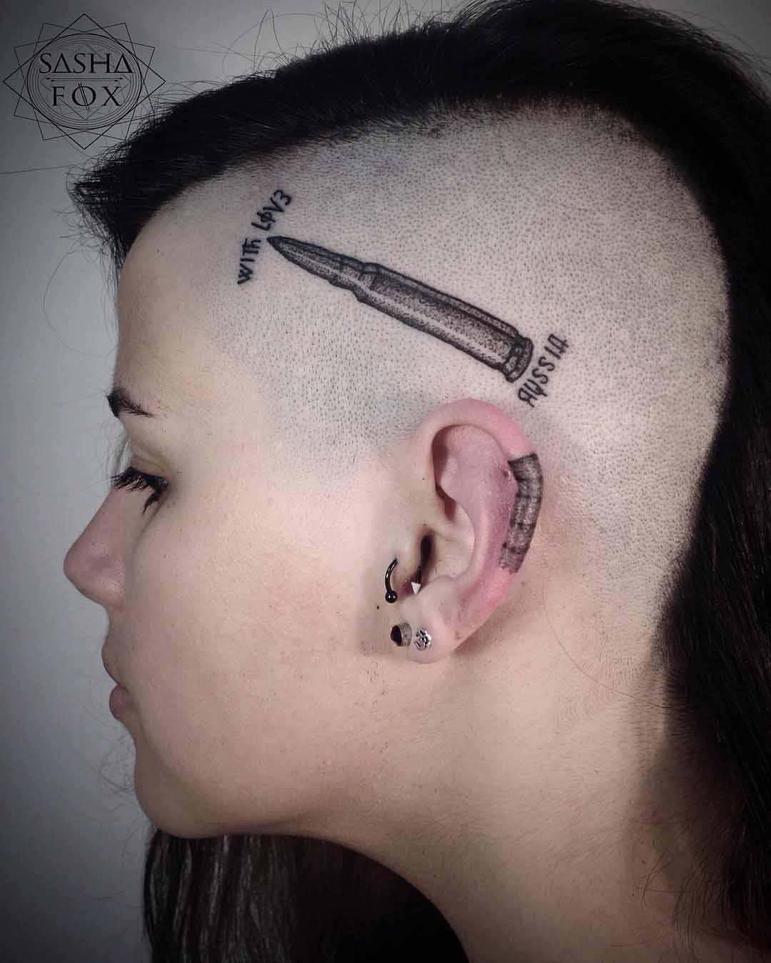 bullet head tattoo
