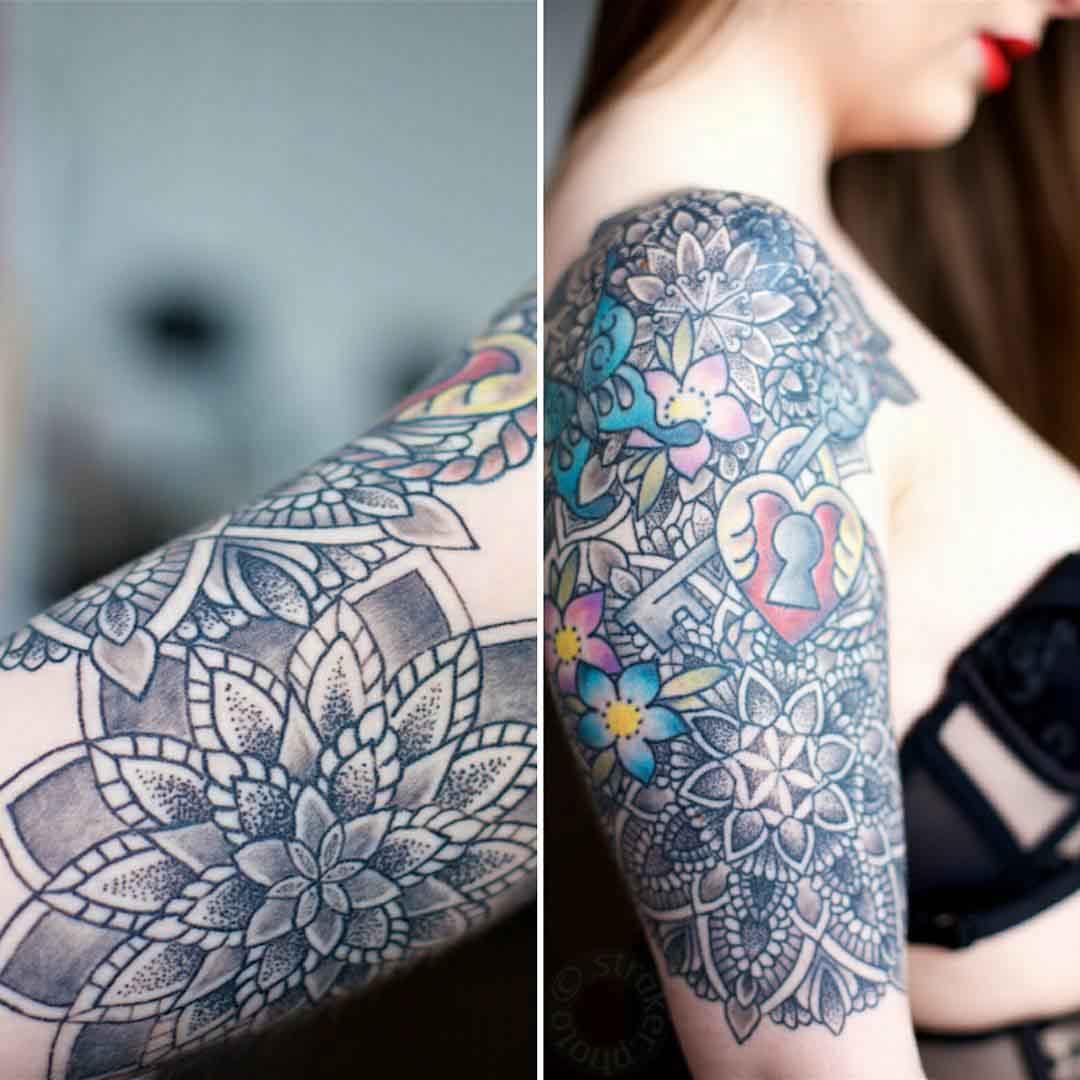Half Sleeve Tattoo Girl by @marcusdoddtattooist