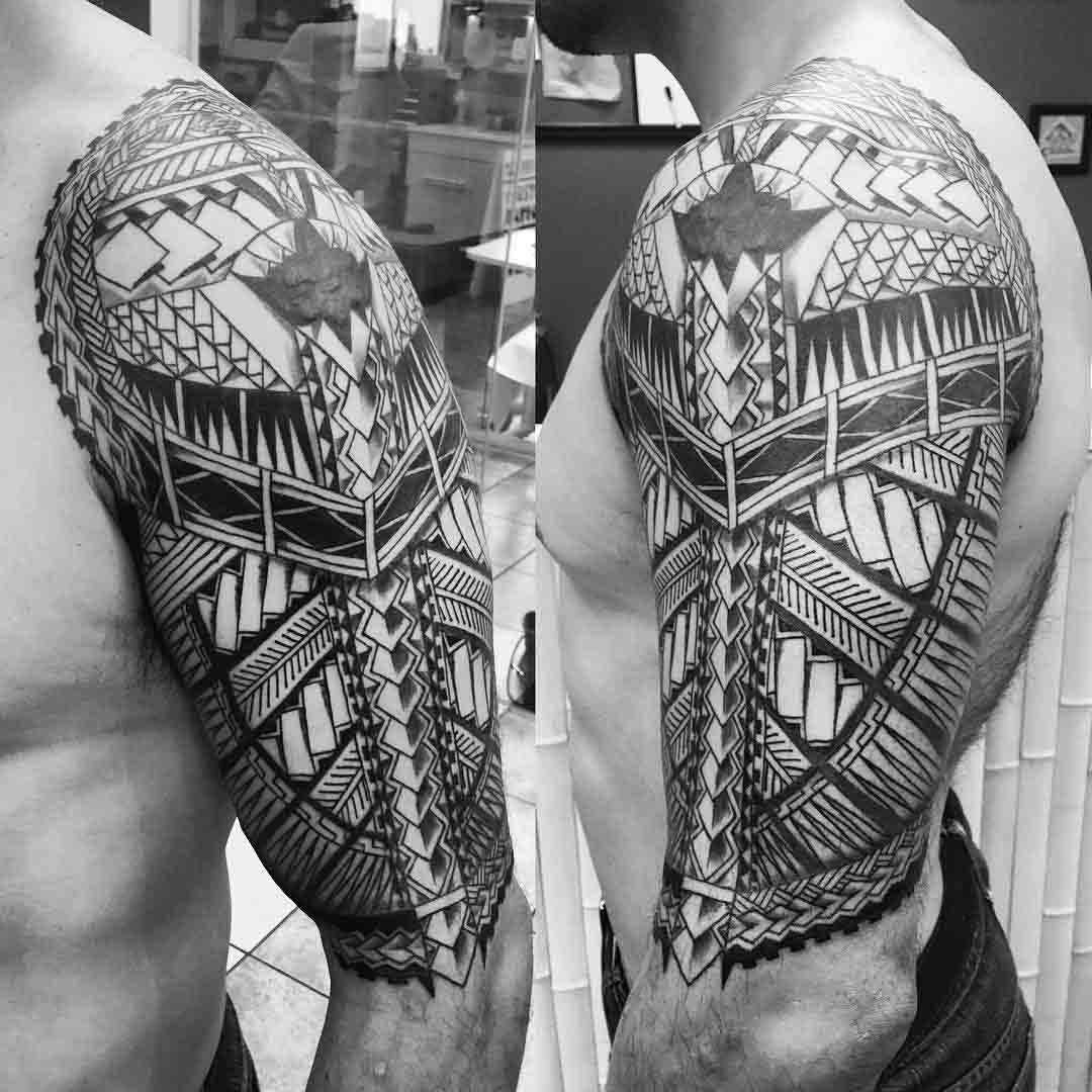 Half Tattoo Sleeve by darksideofthewall