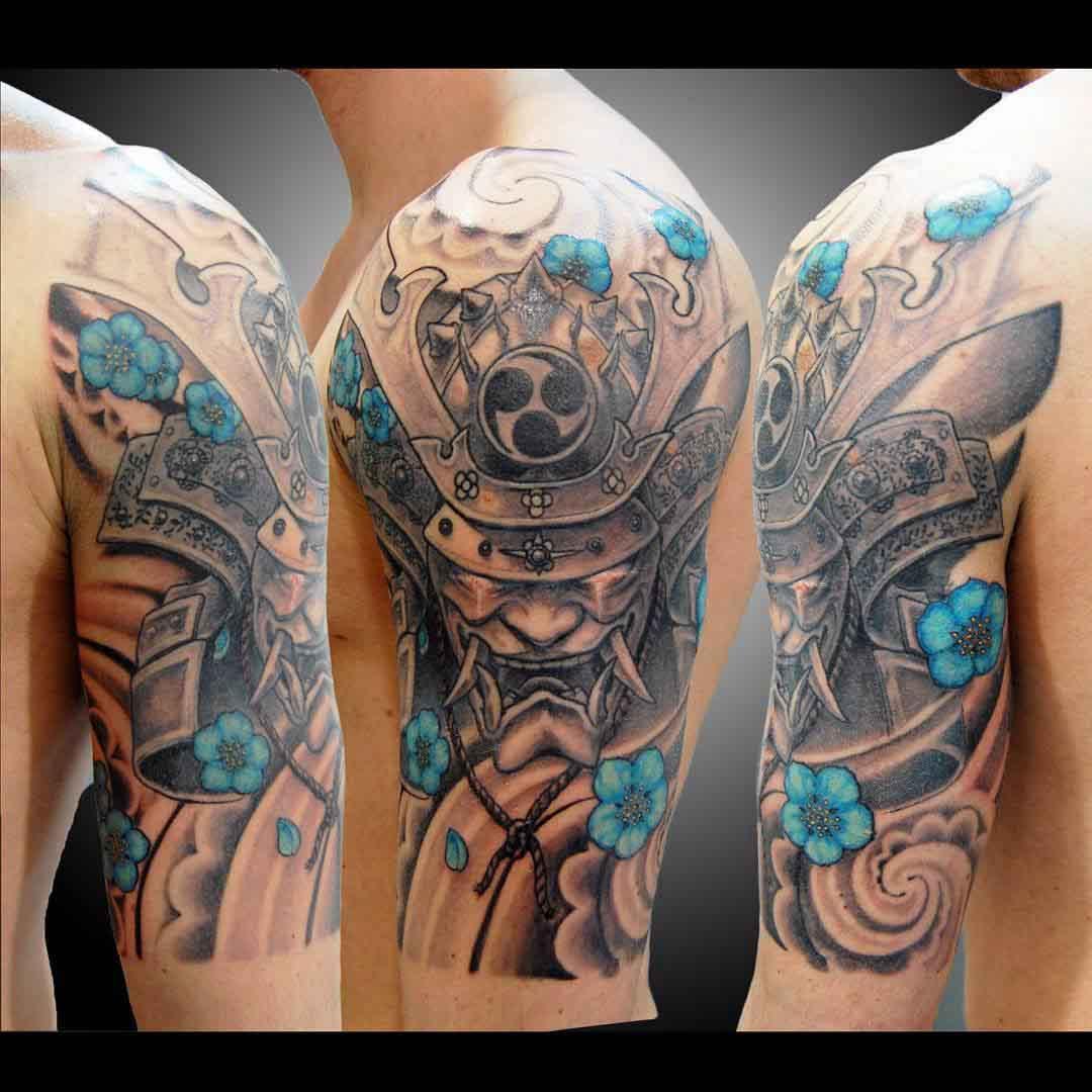 Hanya Mask Tattoo by koji_soul_tattoo