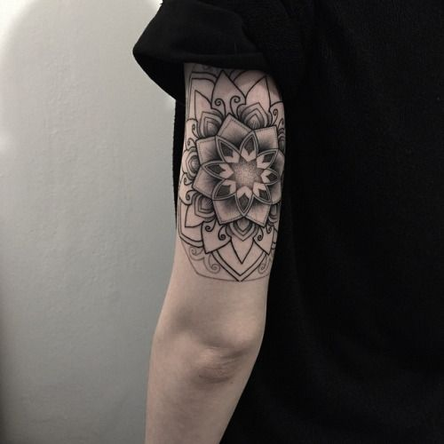 Lotus Mandala Tattoo Tricep by Matt Matik