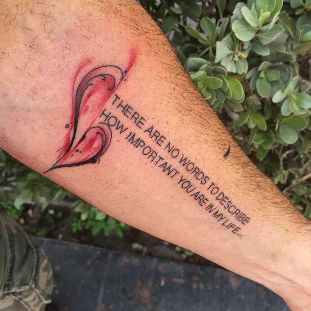 forearm love tattoo quote