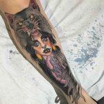 Magical Shin Tattoo