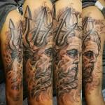 Neptune Tattoo on Tricep