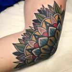 Old School Elbow Tattoo