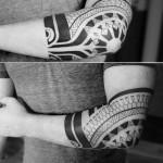 Polynesian Elbow Tattoo