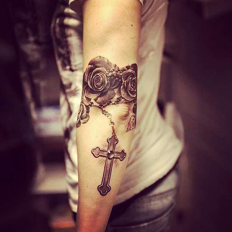 Rosary Tattoo on Arm by niki23gtr