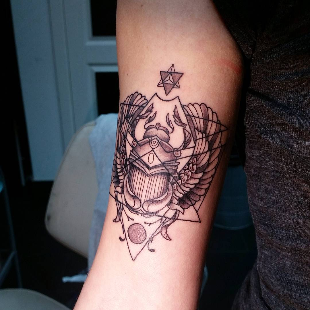 Scarab Tattoo by and_earth