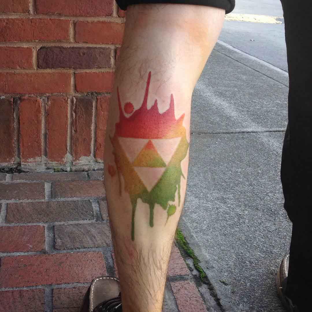 Serpinski Triangle Tattoo