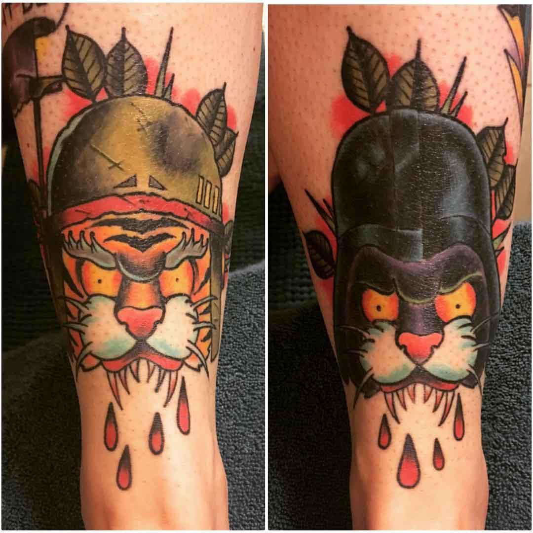 Shin Tattoo Designs by ericburgertattooer
