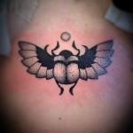 Small Scarab Tattoo Dotwork