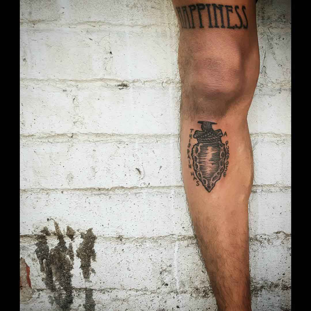 Stone Tip Tattoo by sheisthebee