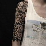Tattoo Half Sleeve Flowers