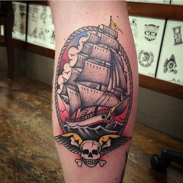 Tattoo Ship by @gracelandtattoo