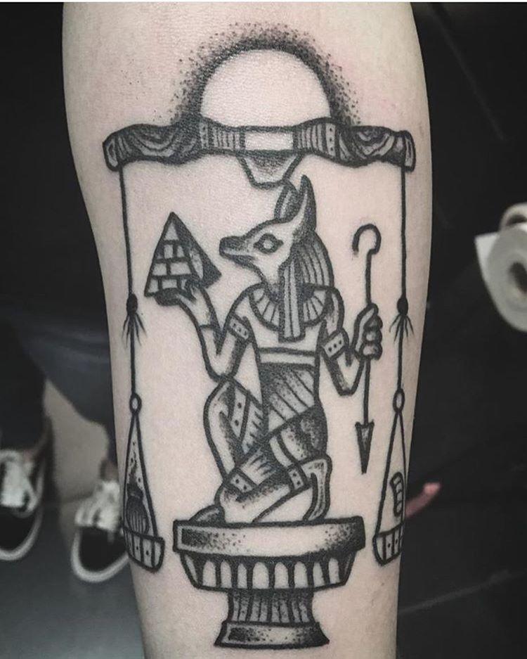 Tattoo of Anubis by eltrashotattoo