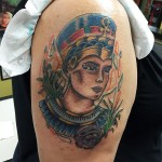 Tattoo of Queen Nefertiti