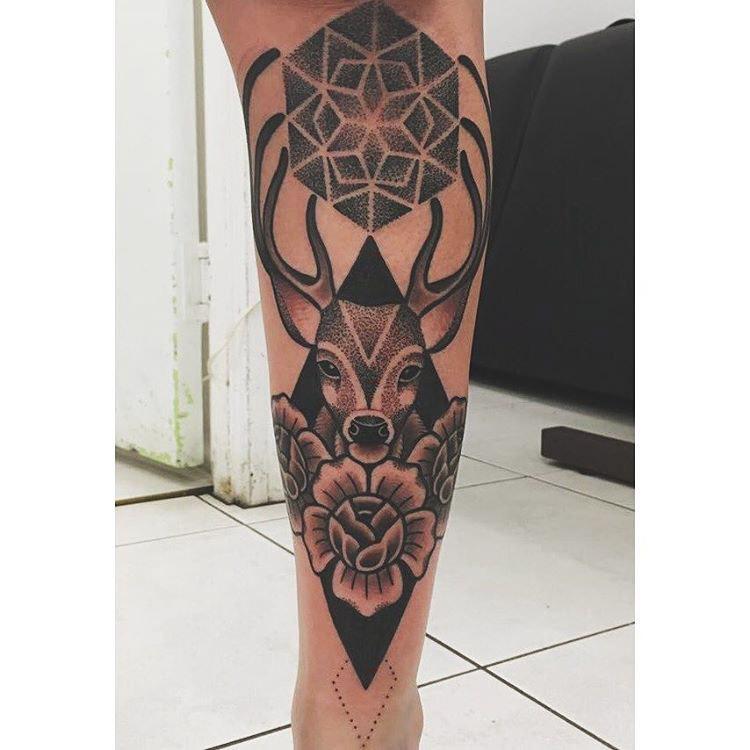 Tattoo on Shin by @shubeytattoos