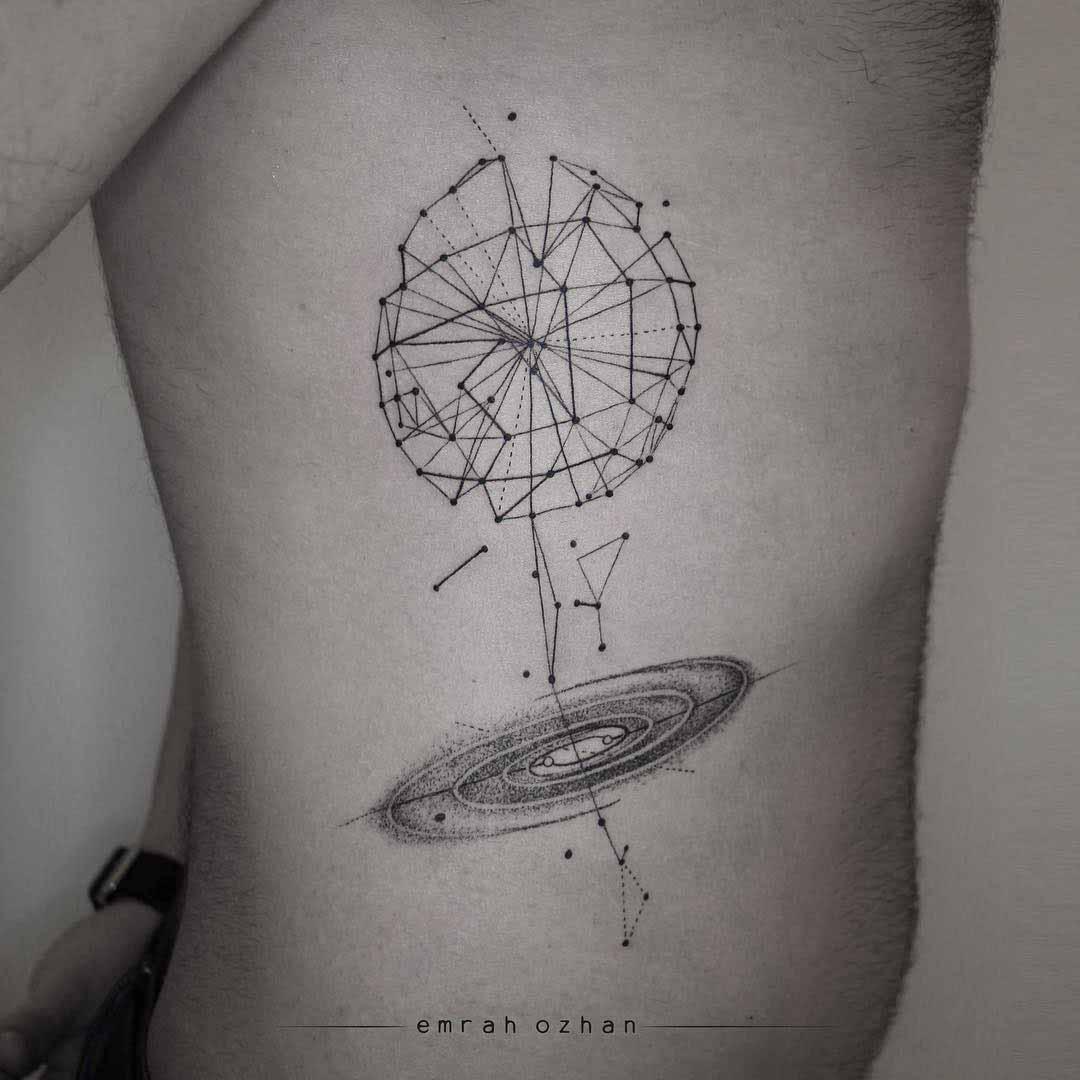 rib tattoo universe