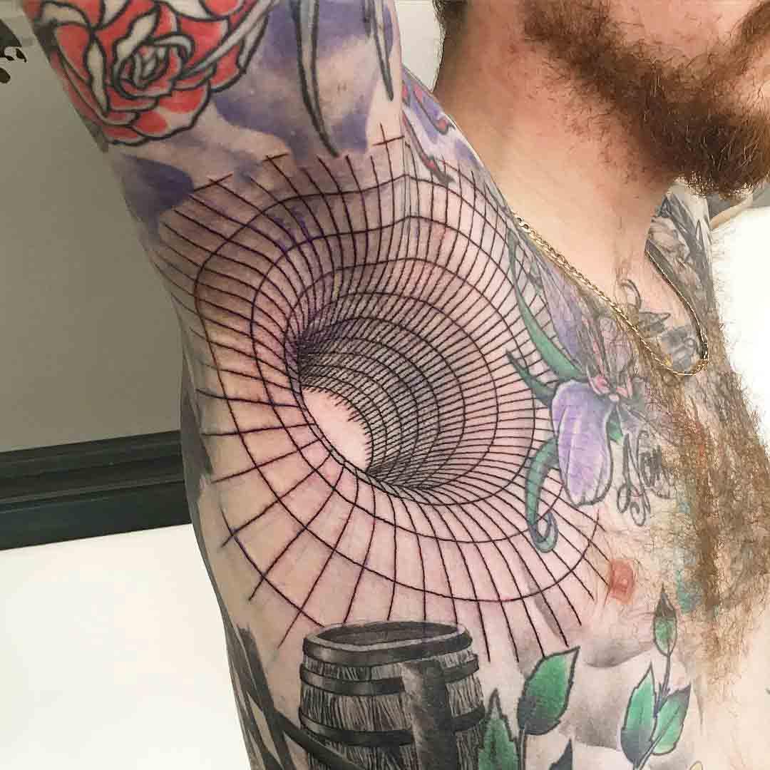 3D Armpit Tattoo by gavdunbartattoos