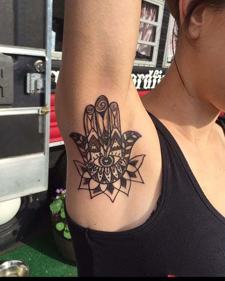 Armpit Tattoo by swordfishtattoo