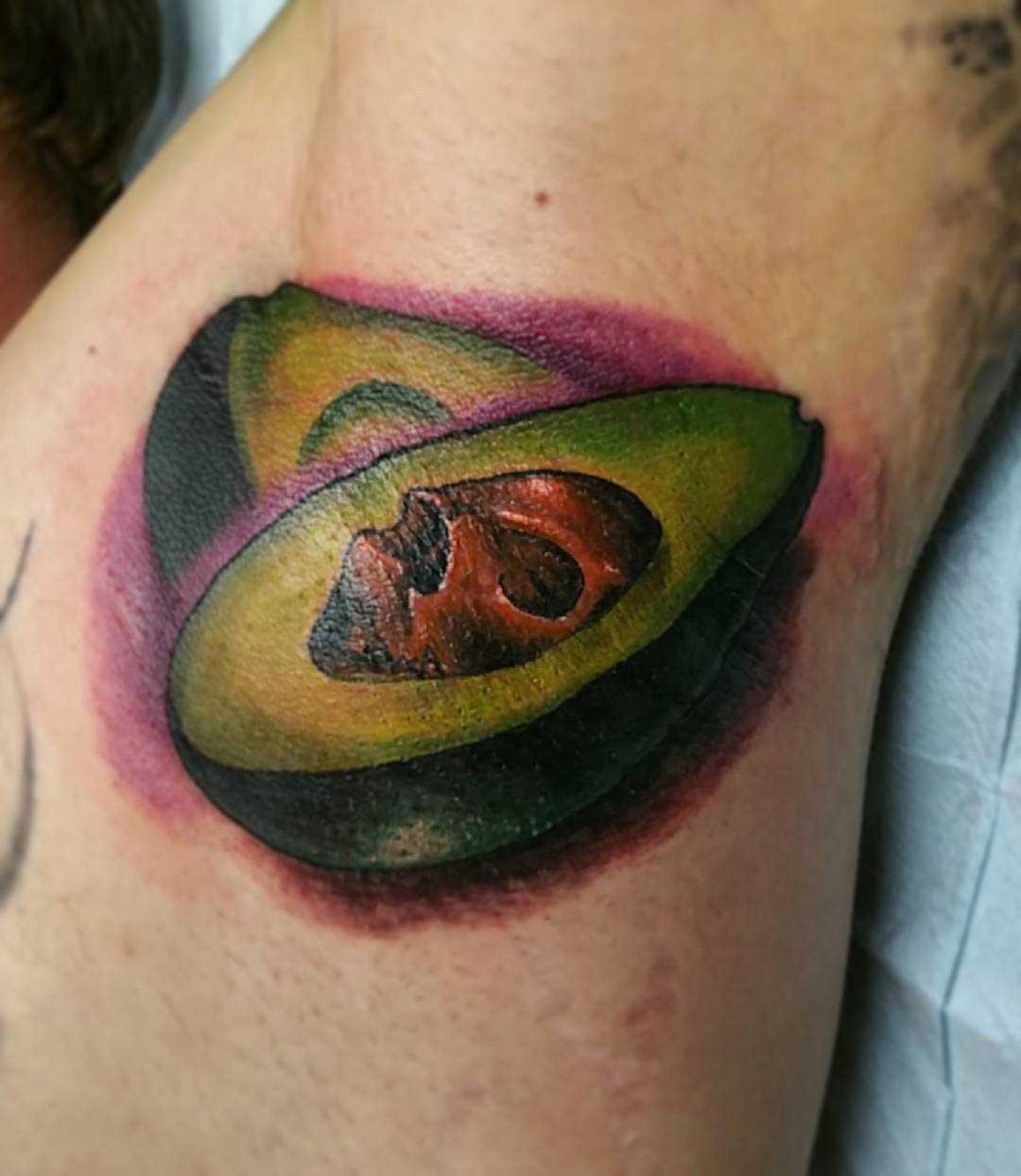 Avocado Armpit Tattoo by tattooartbyisaac