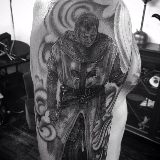 Knight Templar Tattoo by Claire Hamill2