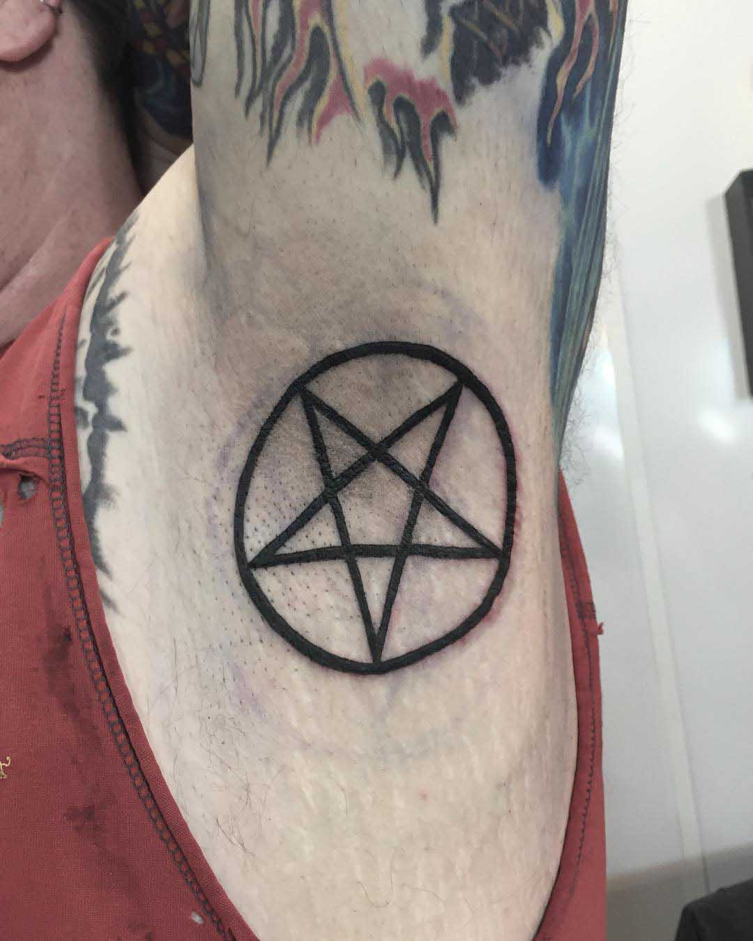 Pentagram Tattoo Design by crappy_name