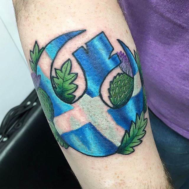 Scottish Symbols Tattoo by @kastanada