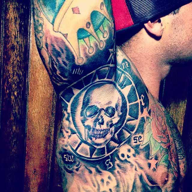 Skull Armpit Tattoo by tattoo_hut