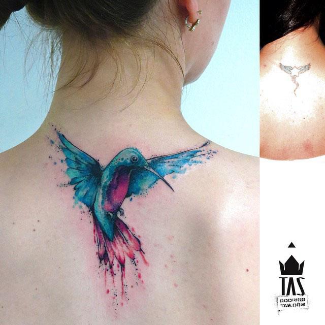 Small Hummingbird Tattoo by rodrigotas