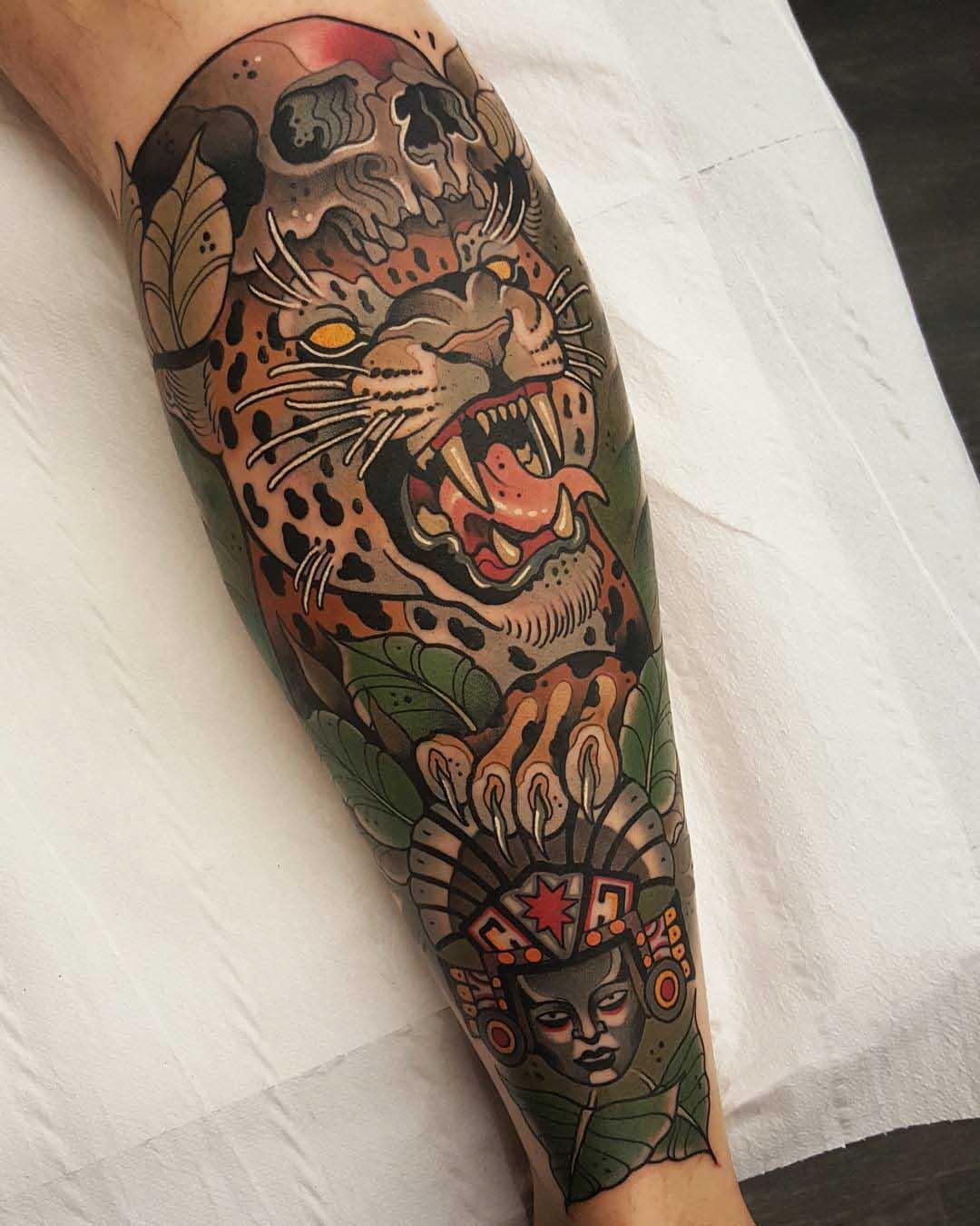 aztec tattoo sleeve