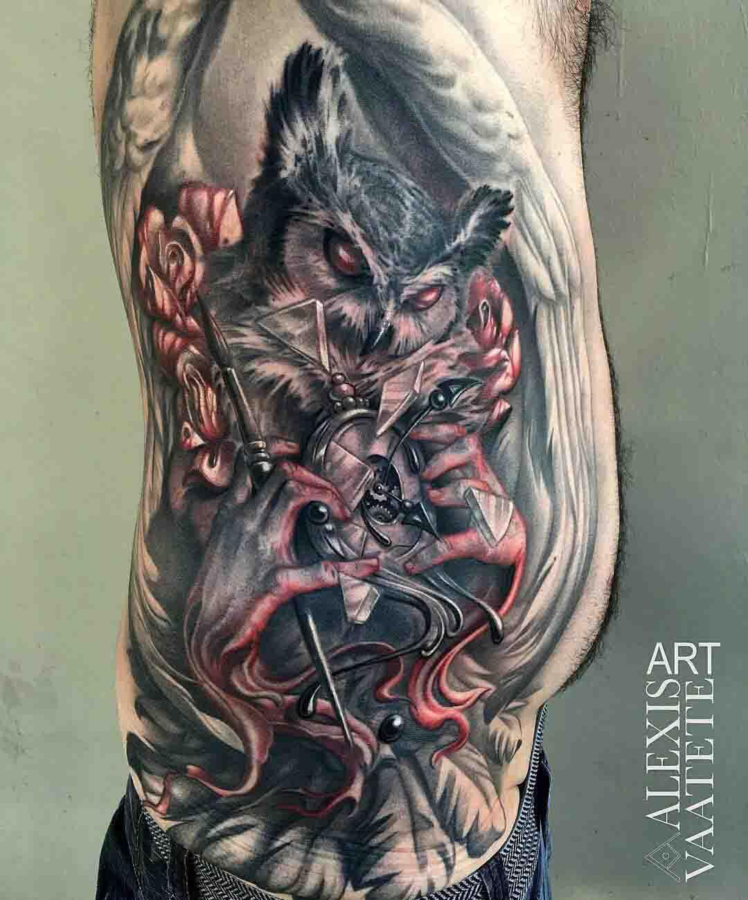 owl tattoo evil